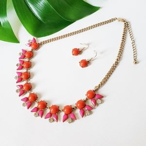 chunky Statement Necklace Earrings set